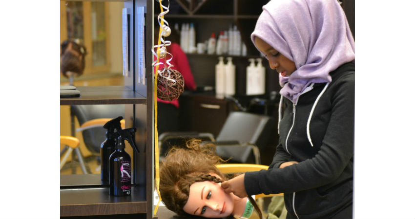 Hairstyling Taught in a Professional Facility