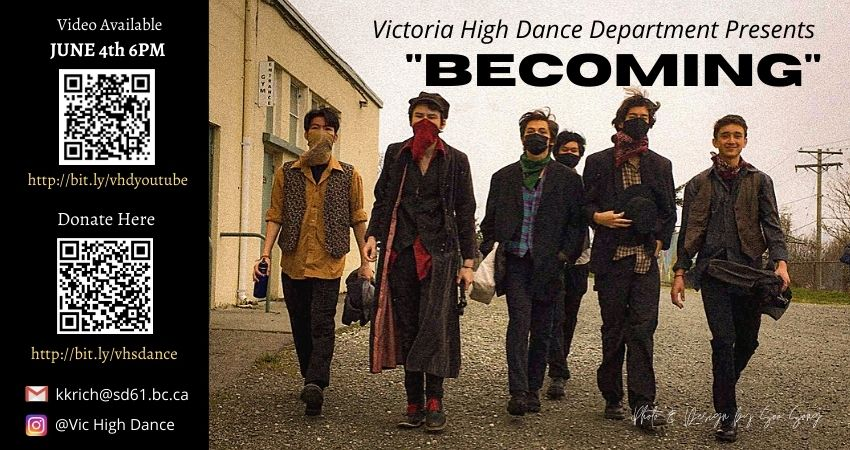 Vic High Dance Dept Presents – Becoming
